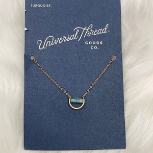 4/$20 Universal Thread Gold & Turquoise Necklace